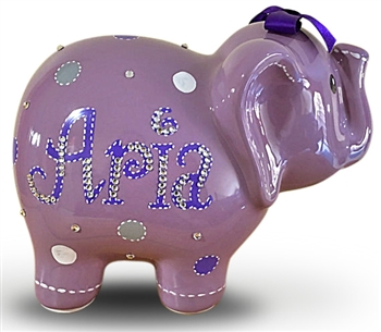 Purple Elephant Piggy Bank Baby Elephant Piggy Bank